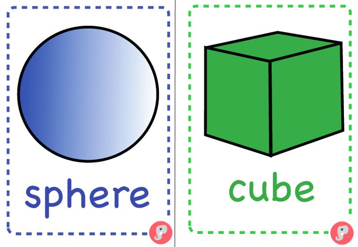 A5 3d Shape Posters Flash Cards With Names A Set Of