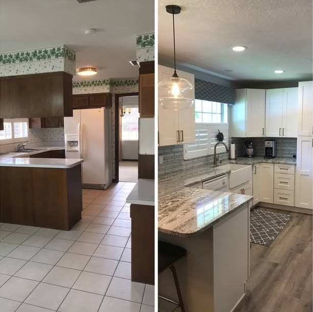 This Kitchen That Was Dragged Into The 21st Century Cheap Home Decor Home Remodeling Kitchen Renovation