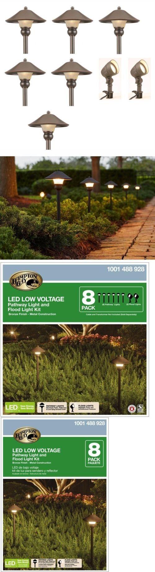 Solar power round recessed deck dock pathway garden led light ebay - Farm And Garden Led Outdoor Low Voltage Path Walkway Garden Landscape Lighting Kit Lights 8