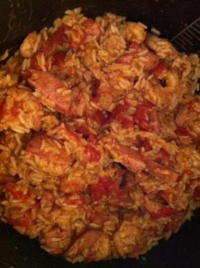Pressure Cooker Jambalaya (With Peppers & Celery) from Food.com: I replaced my electronic pressure cooker so I'm on the hunt for a variety of good recipes for it. I found this one on a few different web sites but don't see it on Zaar. If you are using a regular stove top pressure cooker it should be fairly easy to adjust accordingly.