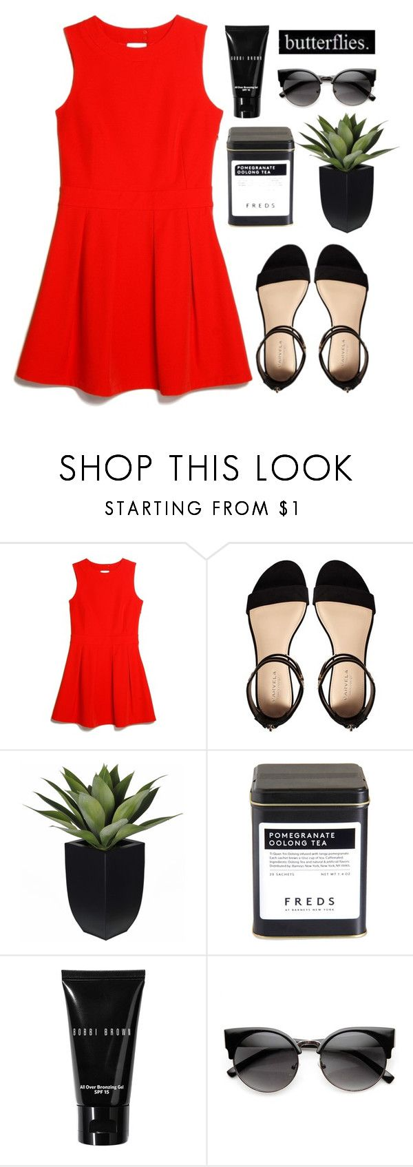 """spain"" by annamalana ❤ liked on Polyvore featuring MANGO, Carvela, FREDS at Barneys New York, Bobbi Brown Cosmetics and ZeroUV"