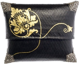 ShopStyle: Gold Lotus Box Clutch by Lotus Arts de Vivre