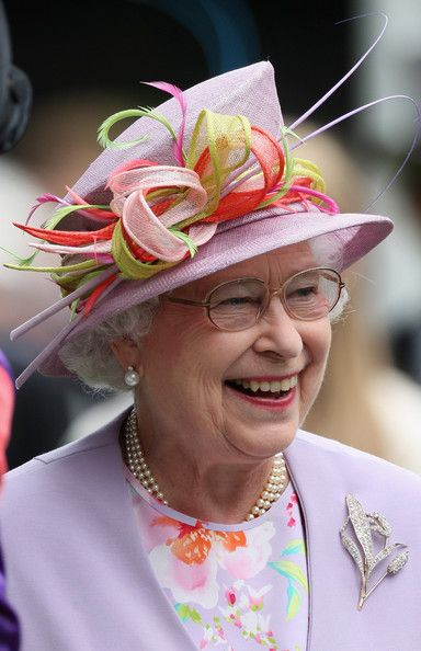 zimbio:  Queen Elizabeth II HM Queen Elizabeth II laughs in the parade ring on day four of Royal Ascot 2009 at Ascot Racecourse on June 19, 2009 in Ascot, England.