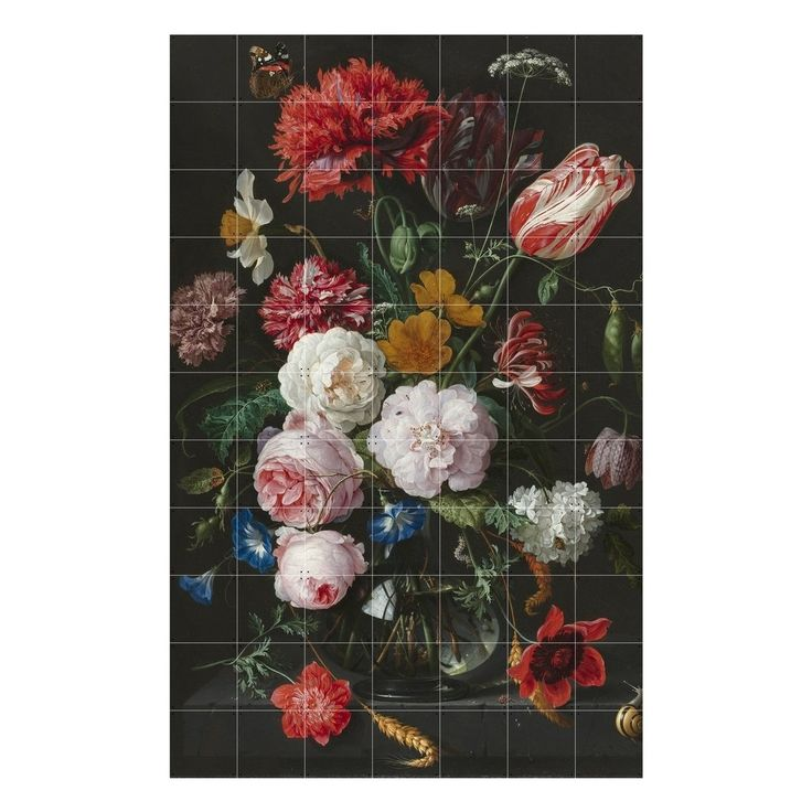 ixxi Muurdecoratie Still Life With Flowers - 120 x 180 cm