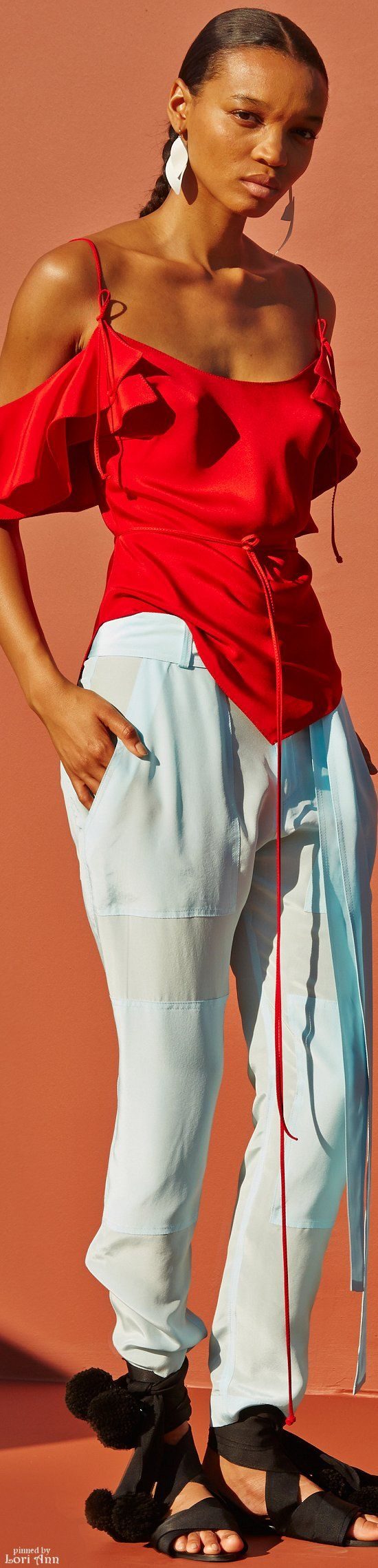 Juan Carlos Obando Spring 2016 RTW women fashion outfit clothing style apparel @roressclothes closet ideas