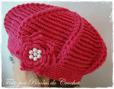 * Pérolas do Crochet: Boina em croche modelo Relevo