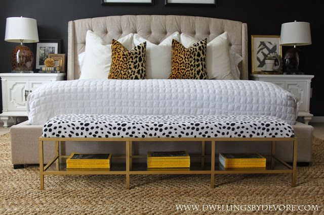 """Gold Upholstered Bench Tutorial made from a ikea Vittsjo TV stand $59 plus Home Depot 3"""" foam"""