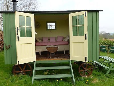 Shepherds hut. An attractive garden office/shed/summerhouse. Peaceful retreat! | eBay