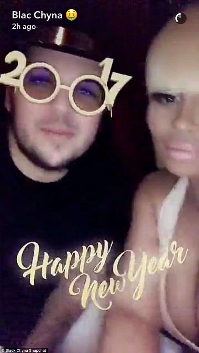 Reunited: Blac Chyna and Rob Kardashian appeared to have put 2016 behind them as they rung in the New Year together