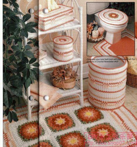 Set De Baño Tejido En Crochet Paso A Paso:Juegos de baño en crochet