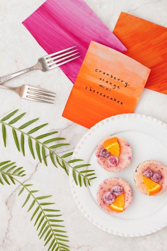 orange cranberry mini cheesecakes