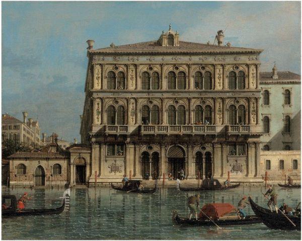 Giovanni Antonio Canal, il Canaletto (Venice 1697-1768) Palazzo Vendramin-Calergi, on the Grand Canal, Venice oil on canvas: 15½ x 19 in. (39.5 x 48.4 cm.)