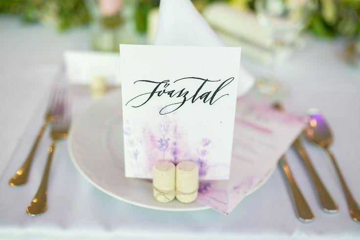 Ani&Szili wedding decoration - table number