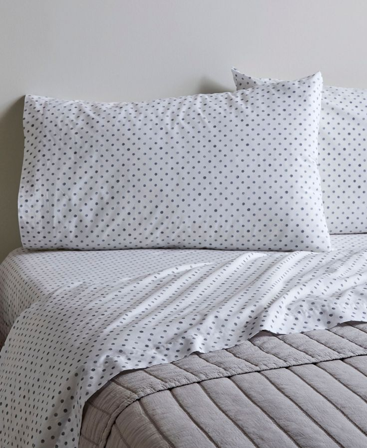 Ed ellen degeneres printed cotton percale twin sheet set