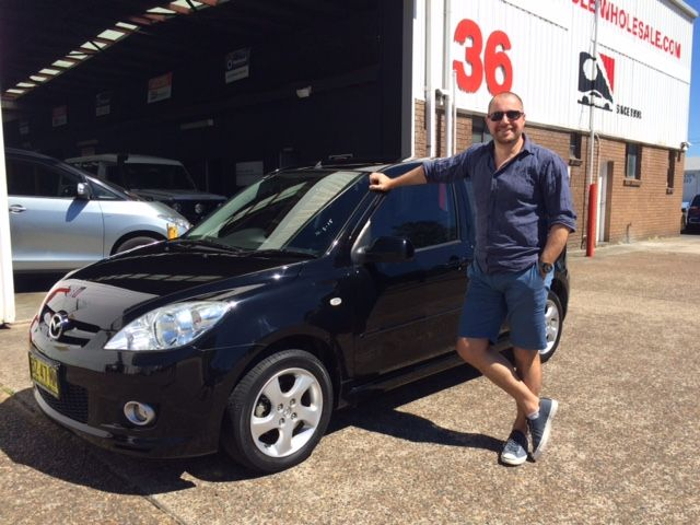 Andy picked up this very low klm Auto Mazda 2 today. A great client, thanks for visiting motor vehicle wholesale dot com