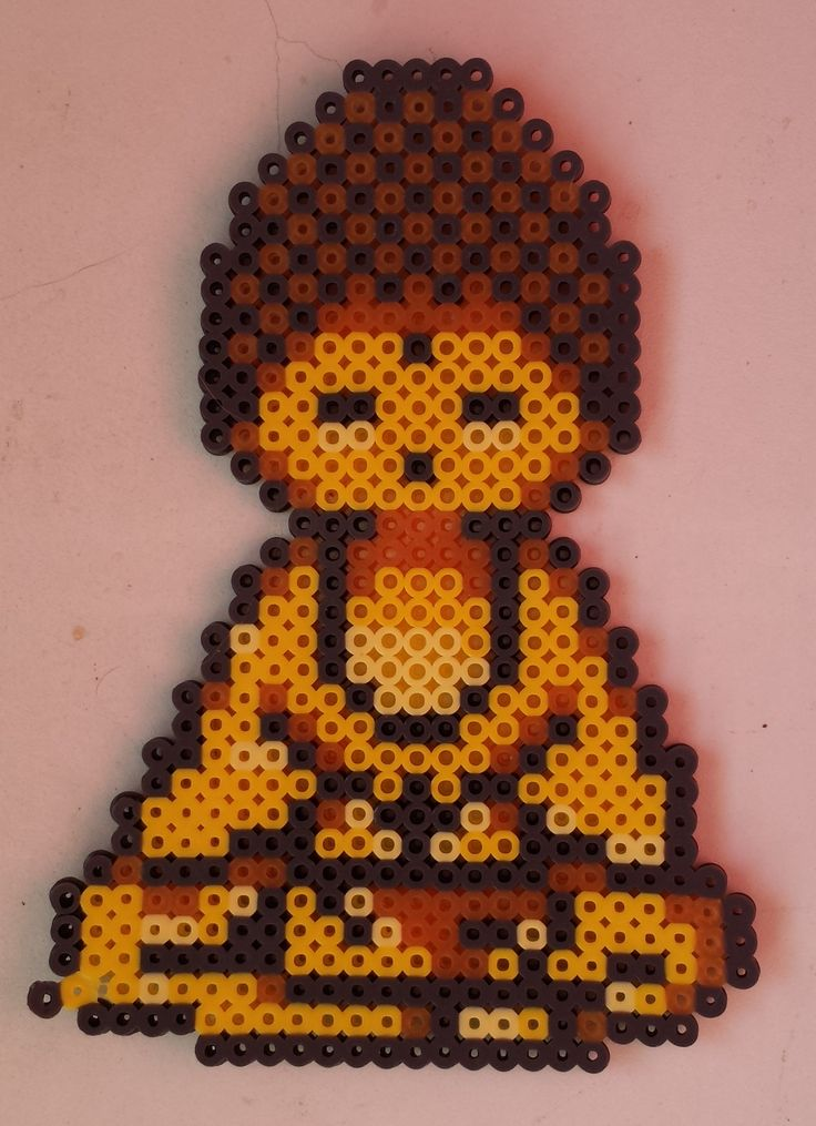 Week 13, Day 88, Culture, Buddah. 365 Day Perler Bead Challenge.