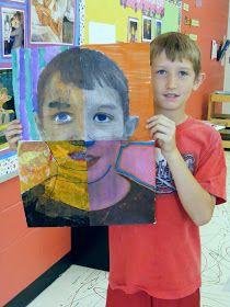 Suffield Elementary Art Blog!: Mixed Media Portraits