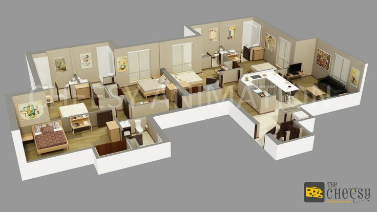The Cheesy Animation Studio 2D And 3D Floor Plan Rendering And Residential, Commercial Home, Office, Building, Design Creator in India, Dubai, UK, USA, UAE.