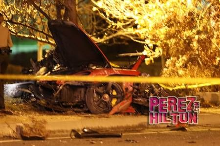 pictures of paul wallkers accident | ... and a video of the scene following Paul Walker's fatal car accident