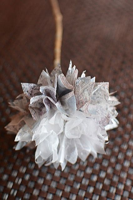 12 best flowers wax paper images on pinterest wax paper fabric tissue paper pom pom flowers mightylinksfo