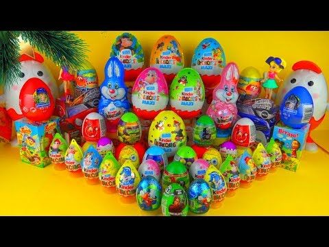 5 Maxi Kinder Surprise 50 Surprise eggs , Kinder Surprise Mickey Mouse Cars 2 Masha - YouTube