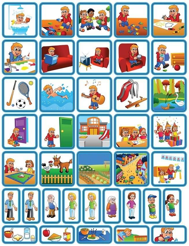 Dagsetje Zonneroosje is een set van 39 planbord pictogrammen voor kinderen.
