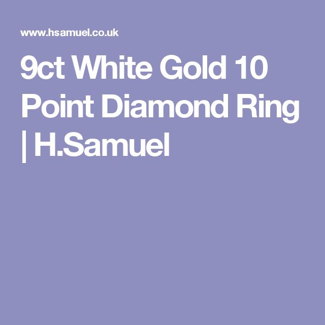 9ct White Gold 10 Point Diamond Ring | H.Samuel