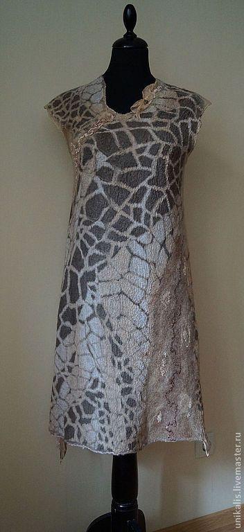 Платья ручной работы. Заказать Валяное платье