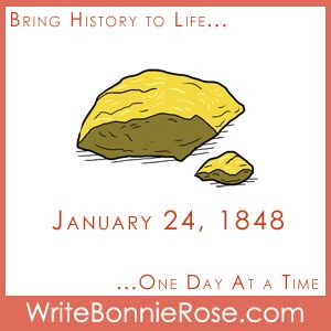 FREE Timeline Worksheet: On January 24, 1848, gold was discovered at Sutter's Mill in California. Just how valuable was gold in 1848? How does that compare with how much it is worth in the present day? Try this fun math worksheet and find out! -  WriteBonnieRose.com