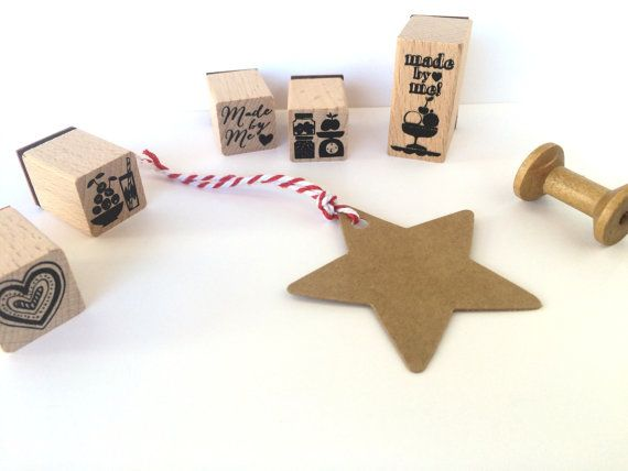 15 stars kraft paper gift tagscute packaging by Dotscutesupplies