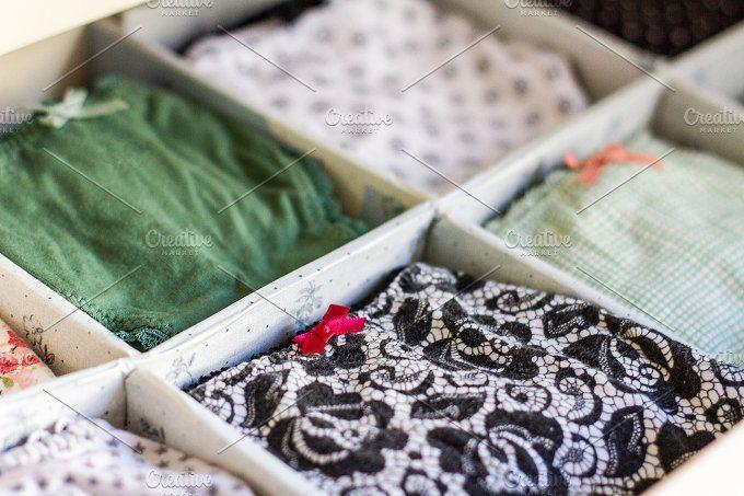 Female underwear ordered in wardrobe by davidpereiras on @creativemarket