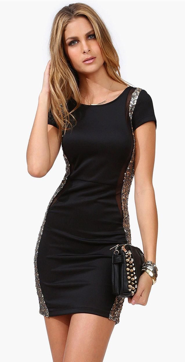 Black Dress With Sparkles