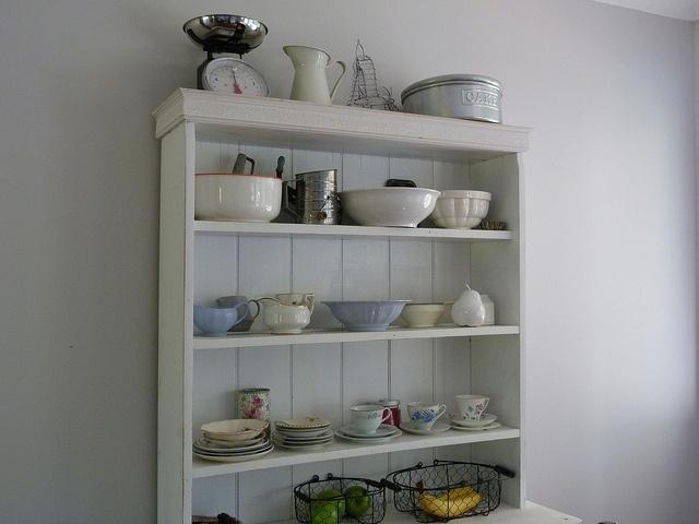 Love the shelves displaying beautiful homewares