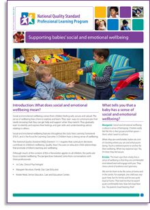 This e-Newsletter offers a rich insight into the #emotional and social #wellbeing of babies and young children. Social and emotional wellbeing comes from children feeling safe, secure and valued. The sense of wellbeing frees them to explore and learn.