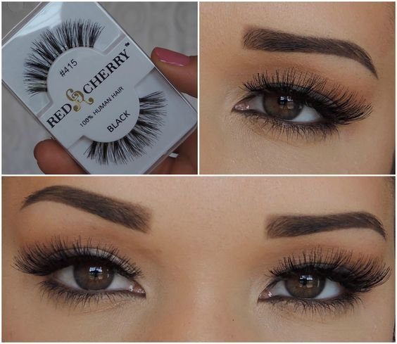 Red Cherry (Natural) #415 (also known as Red Cherry IVY False Eyelashes) are natural-looking, full, dark, black false eyelashes, with graduated length. Style is comparable to Bullseye LANA Lashes. #redcherrylashes #ivylashes #madamemadeline
