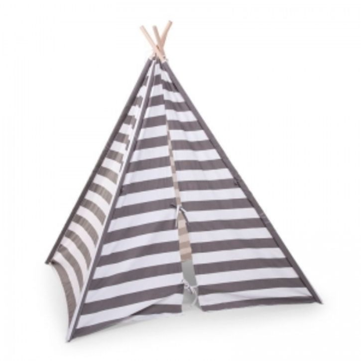 Grey and White Striped Playtent | Nubie