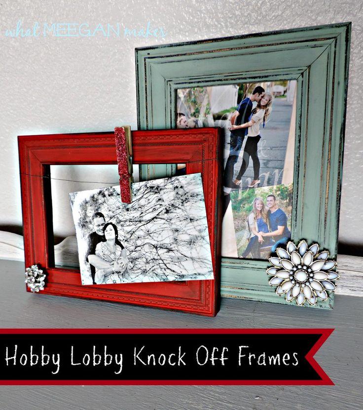Hobby Lobby Knock-Off Frames #whatmeeganmakes #diy