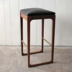 Gerald Easden for Module bar stools in new black leather. $380 each. (3 available)