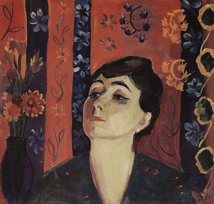1917 Портрет Нины Комурджян. Х,, м. 66х70 МС - Сарьян Мартирос Сергеевич