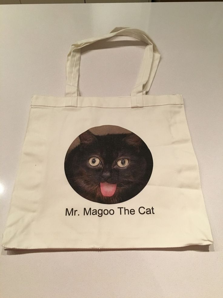 Magoo Tote Bags! $15.00 email mrmagoothecat@hotmail.com to get one!