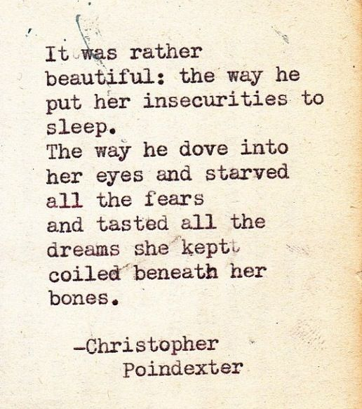 tasted all the dreams she kept...