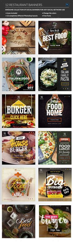PSD Food & Restaurant banners Template • Only available here ➝ http://graphicriver.net/item/food-restaurant-banners/16411716?ref=pxcr