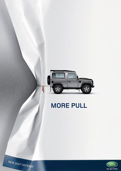 Land Rover advertising.