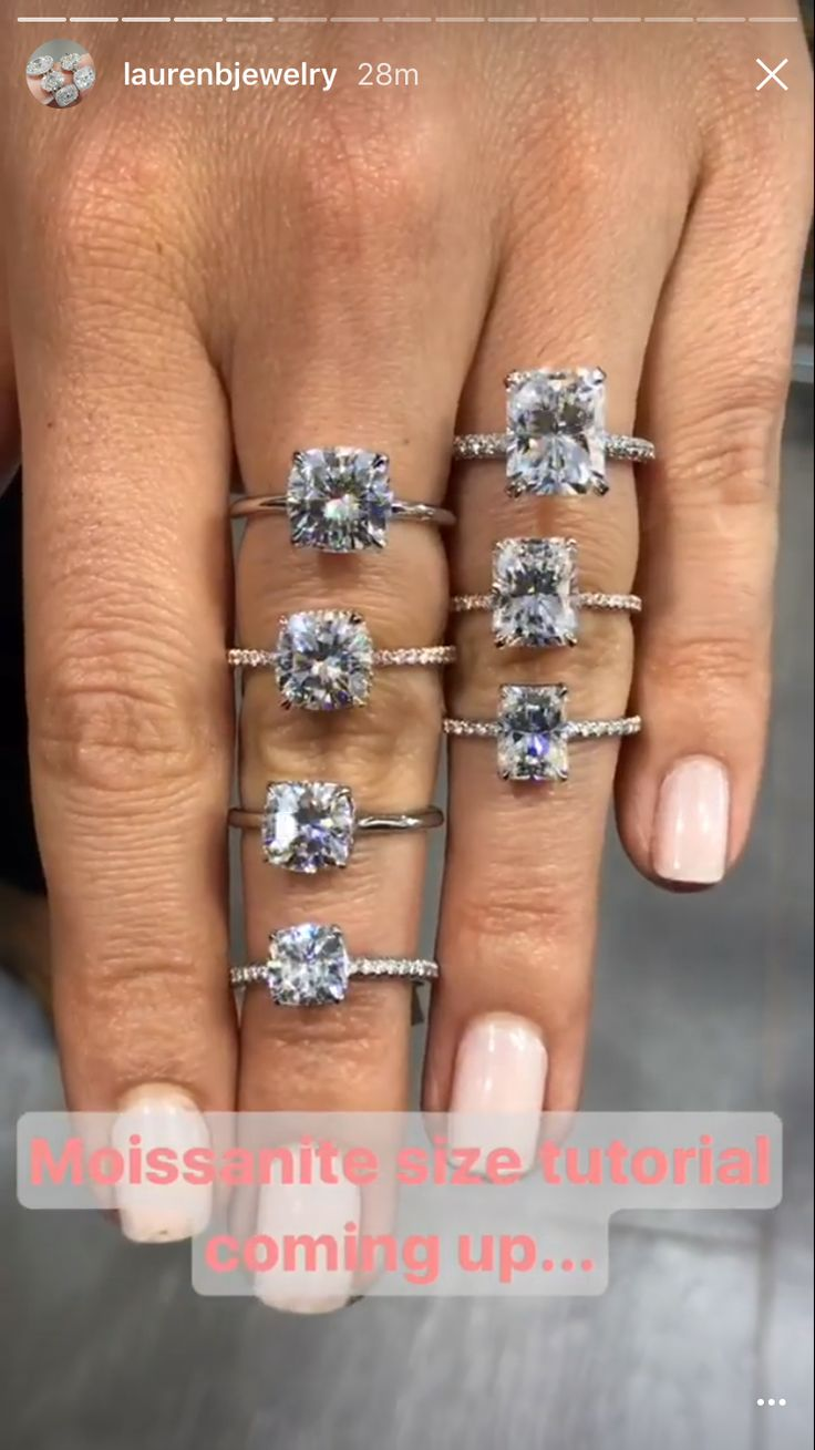 Top, right one on ring finger😍 cushioncutrings