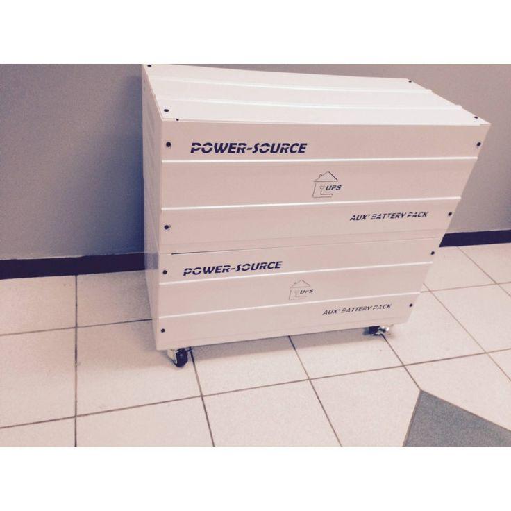 Battery Box Accommodates 4 x 100Ah Vision Batteries on Wheels