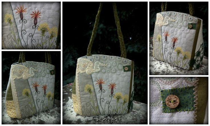 ZerVir bag with embroidered flowers