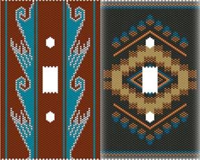 SOUTHWEST PLASTIC CANVAS JEWERLY | DUET 11 SOUTHWEST SWITCHPLATE COVERS