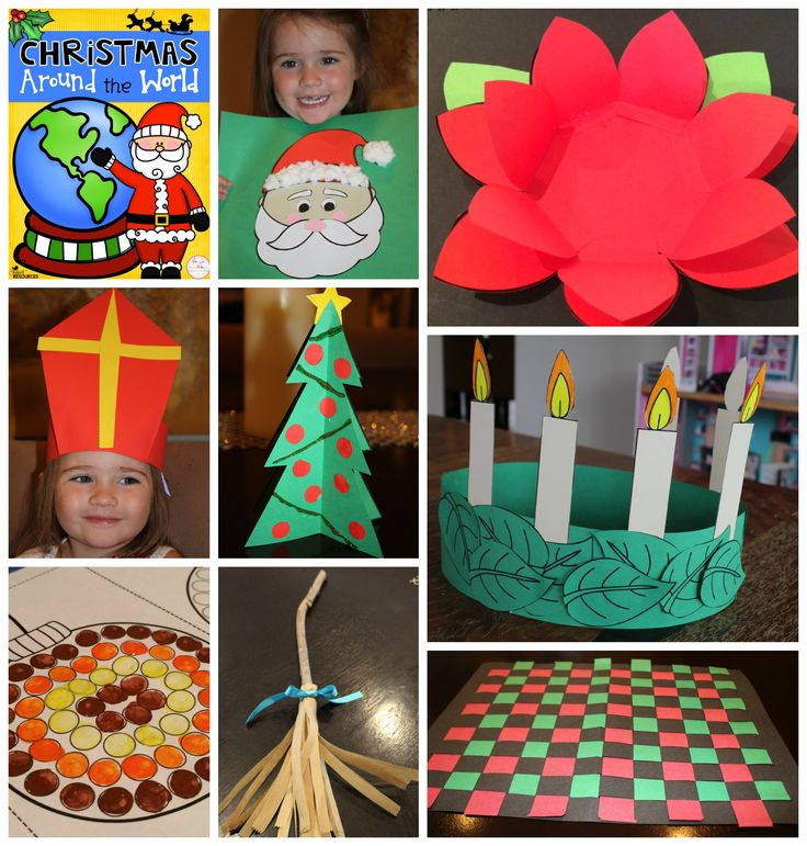 Christmas Around The World! Interactive Writing Activity and Crafts from Italy, Canada, the Netherlands, Germany, Australia, Mexico, Sweden, the USA & more!