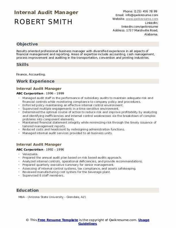 Internal Audit Manager Resume Samples Qwikresume Internal Audit Manager Resume Chef Resume