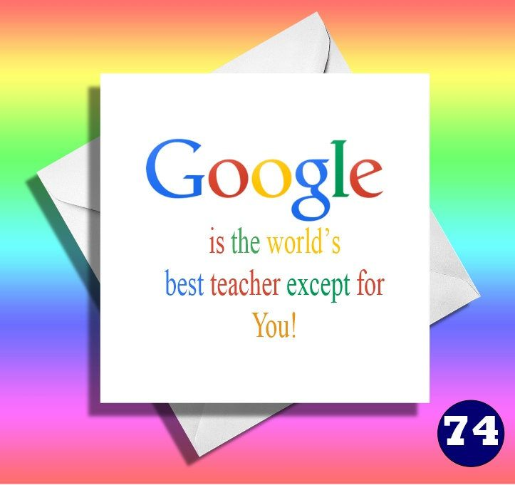 Funny Teacher Card, best tutor, teacher, funny greetings